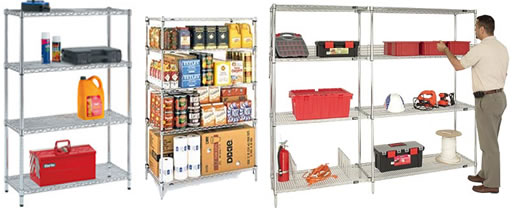 chrome wire shelving